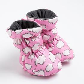 Пинетки-сапожки для девочки, цвет розовый (0-6 месяцев)