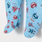 Комбинезон для мальчика, цвет голубой микс, рост 68 см - фото 105474358