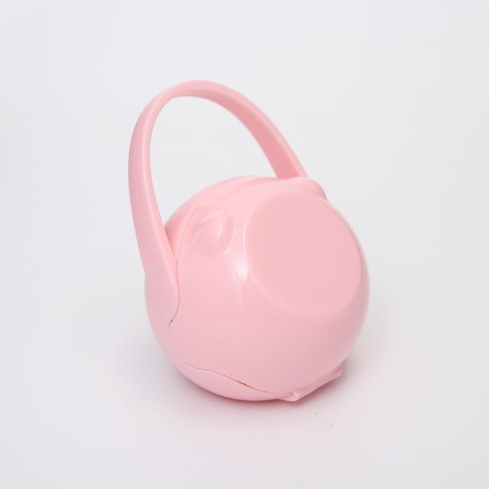 Контейнер для сосок и пустышек «Мишка», цвет розовый - фото 105542343