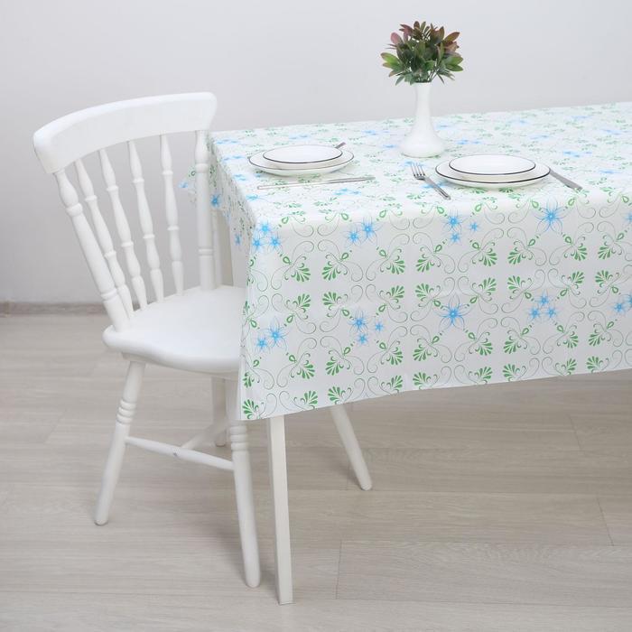 Скатерть PEVA «Цветы», 137×180 см, цвет МИКС - фото 493317