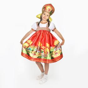 "Fancy Russian costume""Russian fairy tales""dress-sarafan,kokoshnik,R-P30 growth 110-116"