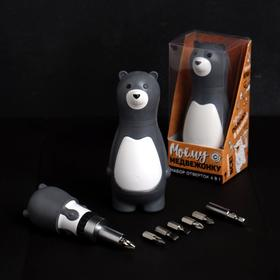 "Gift tool kit ""My Teddy bear"", a 7 piece bit set, bit holder"