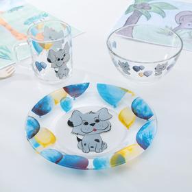 Набор детской посуды «Шарик», 3 предмета: кружка 200 мл, миска 450 мл, тарелка 20 см