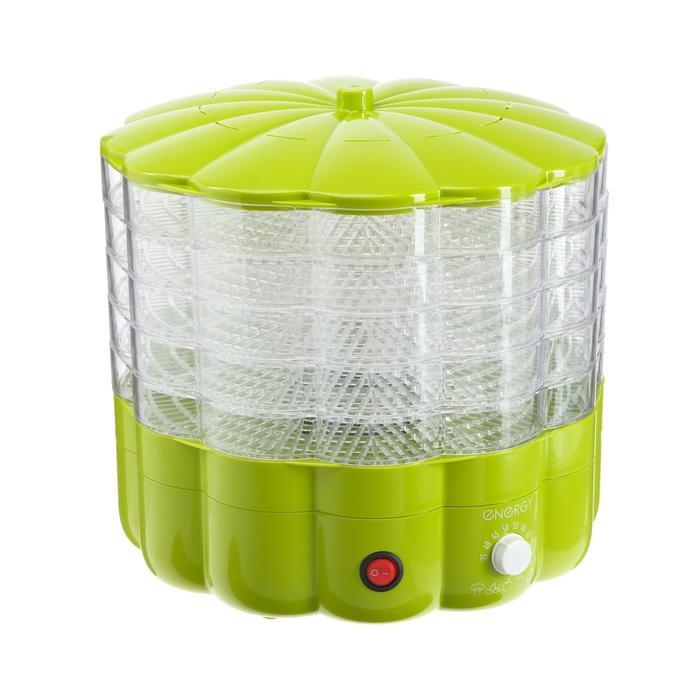 Электросушилка для овощей и фруктов ENERGY EN-552, 230 Вт, 5 поддонов, зеленая
