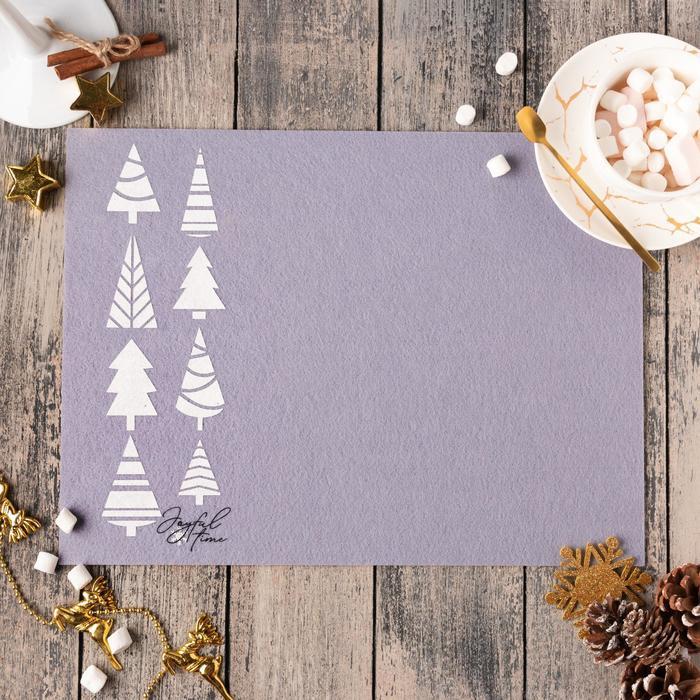 """Napkin """"Christmas Trees"""" 30x40 cm, 100% p/e, felt"""