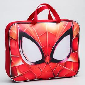 "Папка с ручками текстильная А4, 350 х 270 х 70 мм, ""Человек-паук"" ""Spider-Man"""