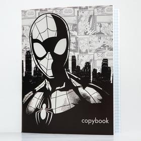 Тетрадь 48 листов в клетку, картонная обложка «Супергерой», «Человек-паук»