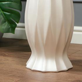 """Ваза напольная """"Кристалл"""", белая, керамика, 70 см - фото 7267231"""