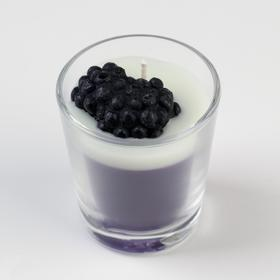 "Candle scented in glass ""BlackBerry sorbet"", 60 gr"