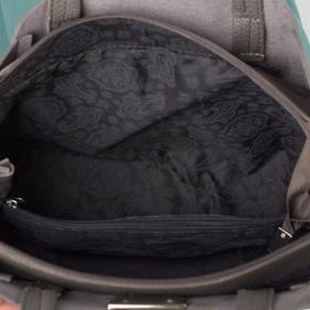 Сумка женская, 3 отдела на молнии, длинный ремень, наружный карман, цвет серый - фото 52535