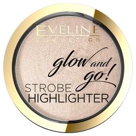Хайлайтер для лица запечённый Eveline Glow And Go, тон 02 gentle gold