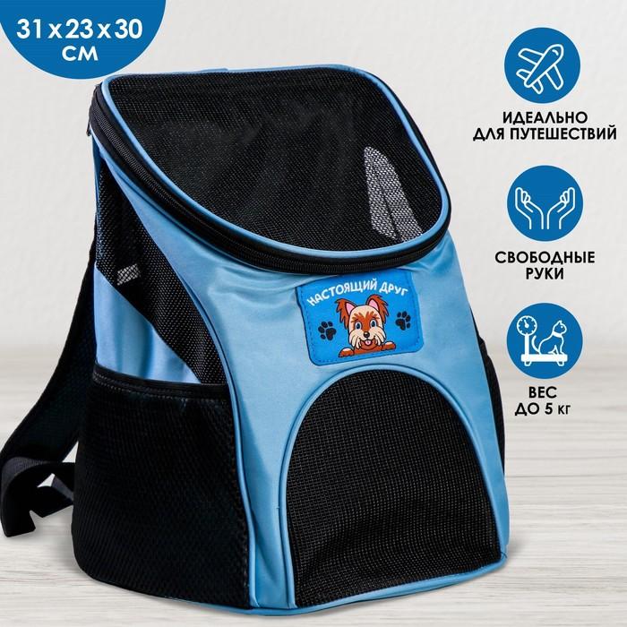 """Рюкзак для переноски животных """"Лучший друг"""" 31*23*30 см"""