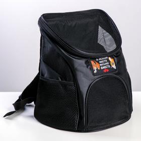 """Рюкзак для переноски животных """"В любом месте - веселее вместе"""" 31*23*30 см"""