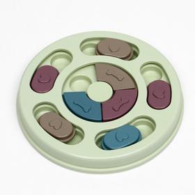 Игрушка интеллектуальная для лакомств, 14 х 3 см, микс цветов