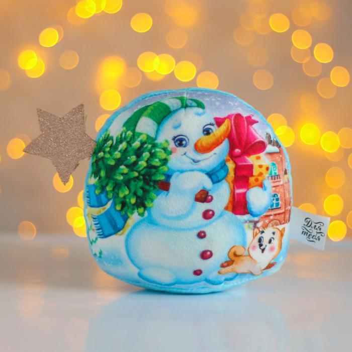 Мягкая игрушка «Новый год», снеговик - фото 105615218