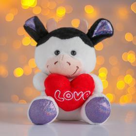 Мягкая игрушка «Бычок с красным сердцем»