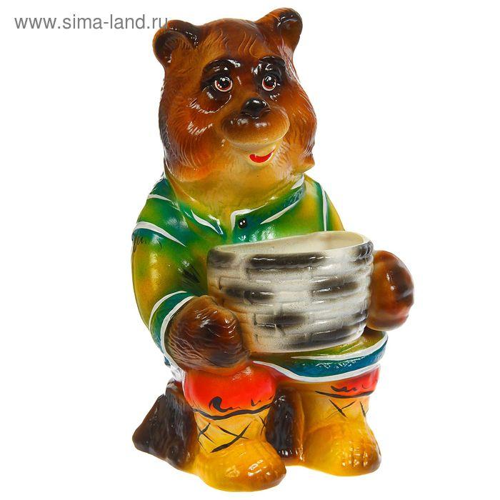 """Копилка """"Медведь с корзиной"""" большая, микс"""