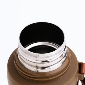 """Термос """"Спорт"""", 700 мл, сохраняет тепло 10 ч, красный, 7.5х28 см - фото 67345"""