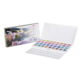 Акварель художественная «Белые ночи» IWS, набор в кюветах, 36 цветов, 2.5 мл