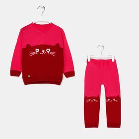 Комплект (джемпер, штаны) для девочки, цвет коралл, рост 92 см