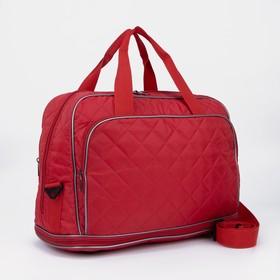 Dor bag C062PCT, 46 * 23 * 31/42, zip, with led, n / pocket, dl belt, red