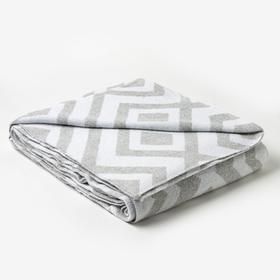 Одеяло хлопковое «Ромб» 140х205 см, цвет светло-серый