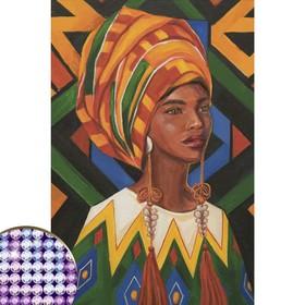 Алмазная вышивка с частичным заполнением «Портрет» 20×30 см, на холсте