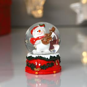 "Souvenir Polyresin water globe ""the snow man plays the violin"" d=4.5 cm 6x4,5x4,5 cm"