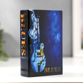 """Safe-book tree leatherette """"Guitar. Blues"""" 17х11х5 cm"""