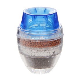 Фильтр для воды на кран «Тройной барьер», d=16-19 мм, на основе цеолита руды, активированного угля и сульфата кальция, цвет МИКС
