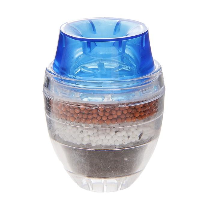 Фильтр для воды на кран «Тройной барьер», d=16-19 мм, на основе цеолита руды, активированного угля и сульфата кальция, цвет МИКС - фото 700220