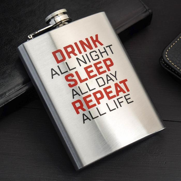 "Фляжка ""Drink all night"", 240 мл - фото 493530"