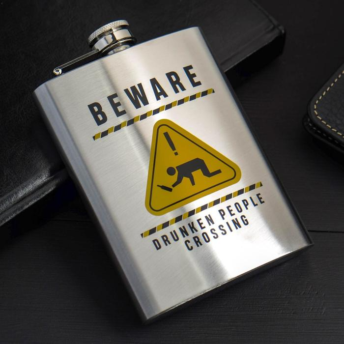 "Фляжка ""Beware"", 240 мл - фото 666481"