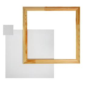 Canvas on stretcher cotton 100% acrylic primer 2*40*40 cm + FRAME, 380g/m2/s Calligrata