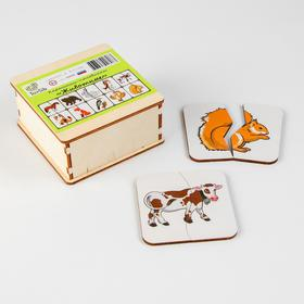 Картинки-половинки «Животные» (бизиборды)