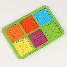 Квадраты Никитина 3 уровня, 6 квадратов (бизиборды)