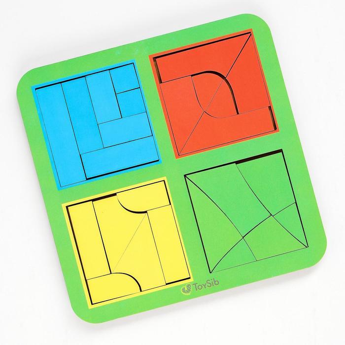 Квадраты Никитина 3 уровня, 4 квадрата (бизиборды) - фото 76519513