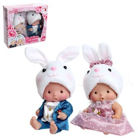 Пупс в костюмчике «Крошики: Сладкая парочка» зайцы