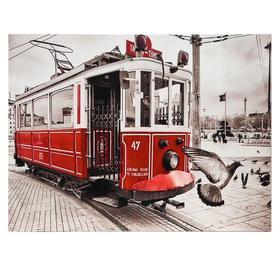 Картина 'Красный трамвай' 30*40 см Ош