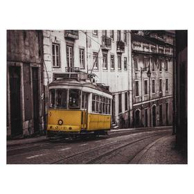 Картина 'Желтый трамвай' 30*40 см Ош