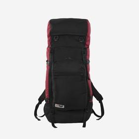 Рюкзак туристический, 80 л, отдел на шнурке, наружный карман, 2 боковые сетки, цвет чёрный/вишня
