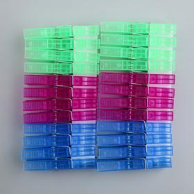 Набор прищепок бельевых 7,5 см, 24 шт - фото 4635415