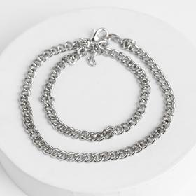"Anklet ""Double chain"" color silver"