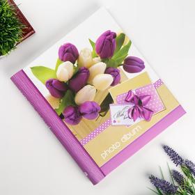 """Фотоальбом магнитный 23Х28 см 20 листов """"Тюльпаны"""""""