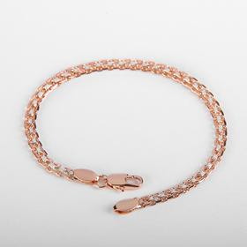"""Metal bracelet """"Chain"""" anchor four-row, color silver and gold, width 3 mm, L=18 cm"""