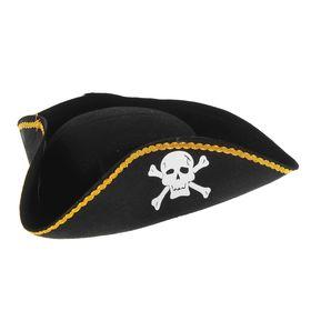 Шляпа «Пират», фетр, р. 60