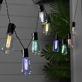 """НИТЬ, уличная на солнечной батарее с насад. """"ЭРА"""", """"Лампочки"""", 3.8 м, Н.Т. LED-10, БЕЛЫЙ"""