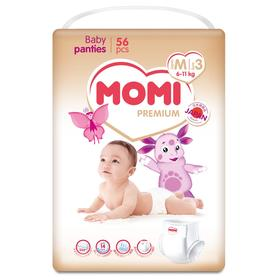 Подгузники-трусики MOMI Premium М (6-11кг), 56 шт