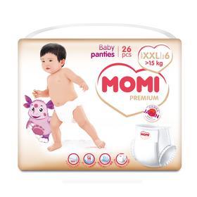Подгузники-трусики MOMI Premium XXL (от 15 кг), 26 шт