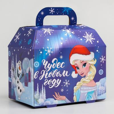 """Коробка подарочная складная """"Чудес в новом году"""", Холодное сердце, 15 x 10 x 9,5 см"""